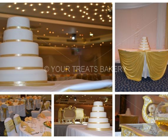 Gold in 5 Steps Wedding Cake