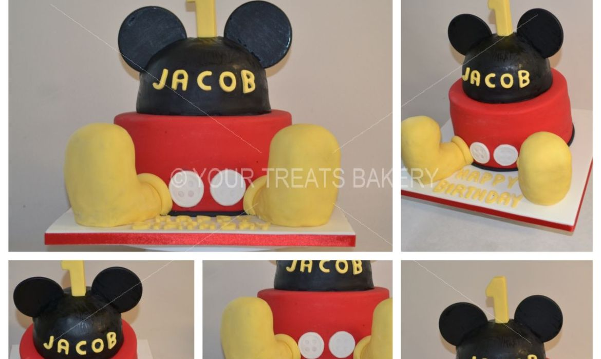 Micky Mouse Head & Feet Cake