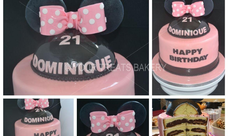 Minnie Mouse Bow Ears Cake