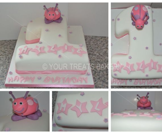 Purple Ladybird Cake