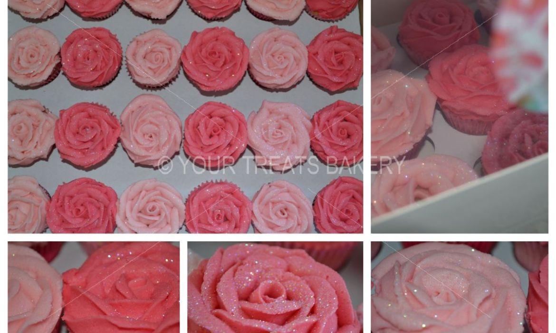 Rose Growth Cupcakes