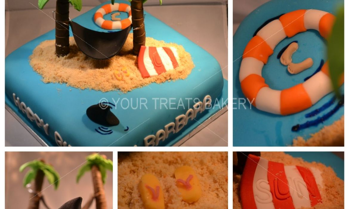 Shark on the Beach Cake
