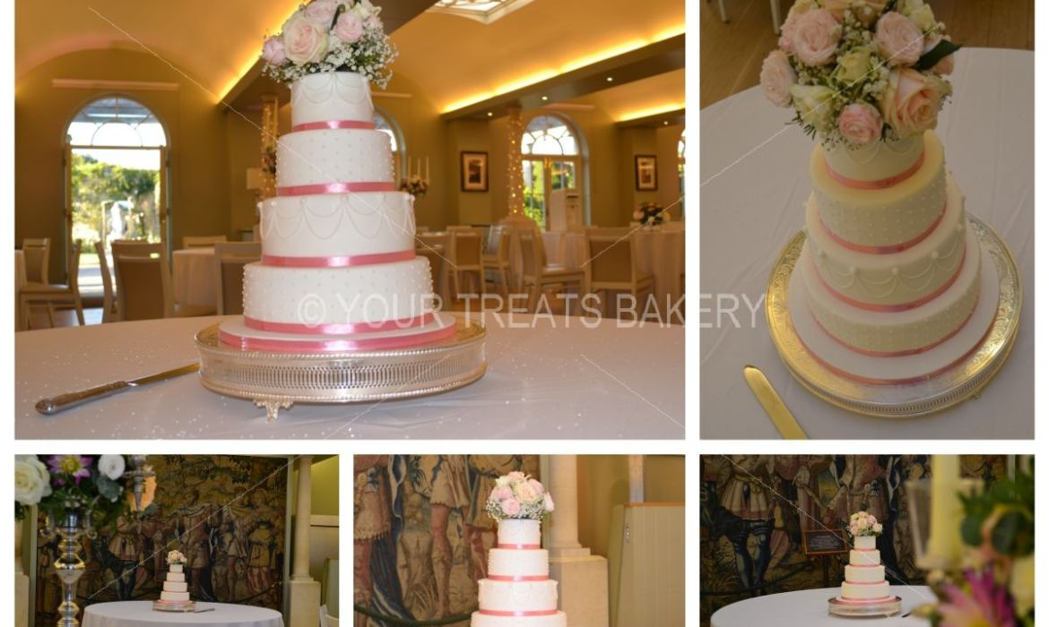 Floral Tapestry Wedding Cake