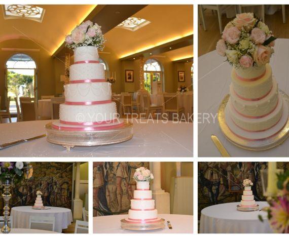 Floral Tapestry Wedding Cake