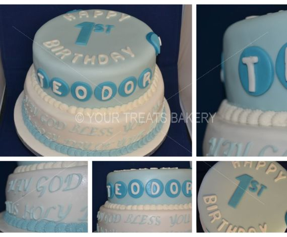 Teodor Blue Tiers Cake