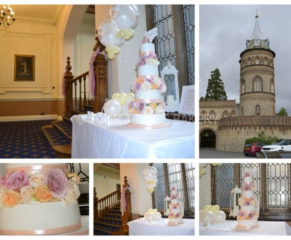 The Flower Tower Cake