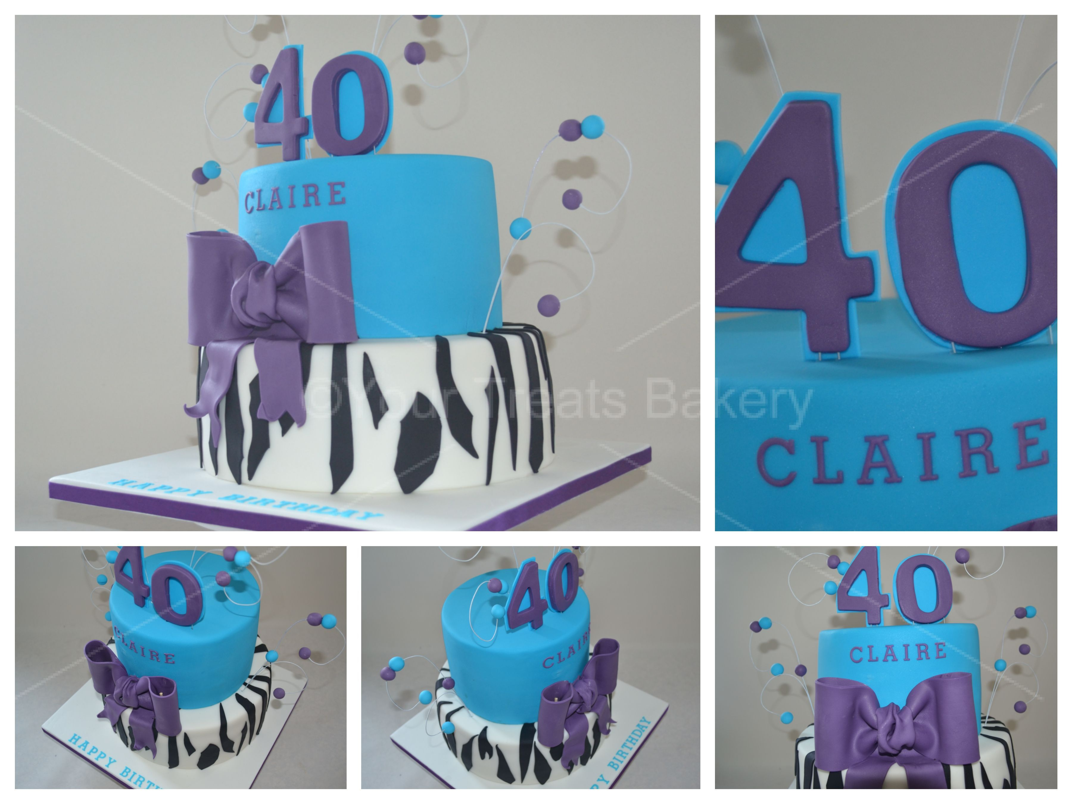 Marvelous Zebra Bow Birthday Cake Your Treats Bakery Funny Birthday Cards Online Fluifree Goldxyz