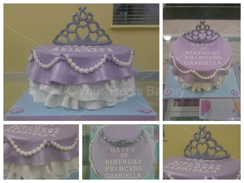 Draped Princess Tiara Cake