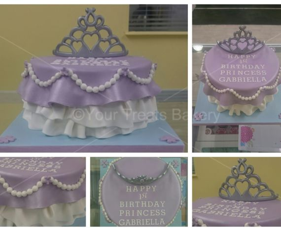 Draped Princess Tiara Cake
