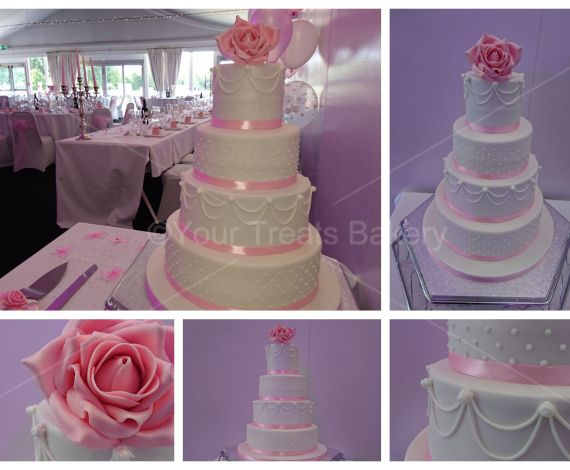 Famous 4 Tier Delight Pink Rose