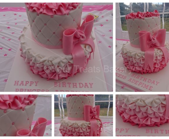 Frills Skirt Quilting Tier Cake