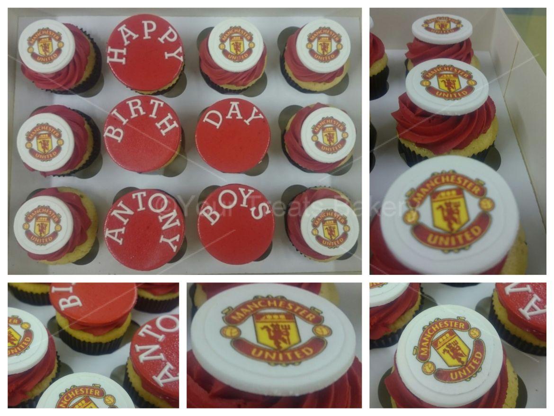 Man United Cupcakes
