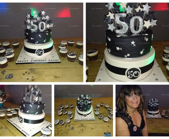 50 Stars Tier Cake made by Your Treats Bakery – Find out more at www.yourtreats.co.uk or see more at our gallery here.