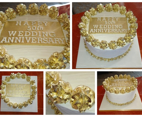 Gold Elegance Buttercream Delight Cake