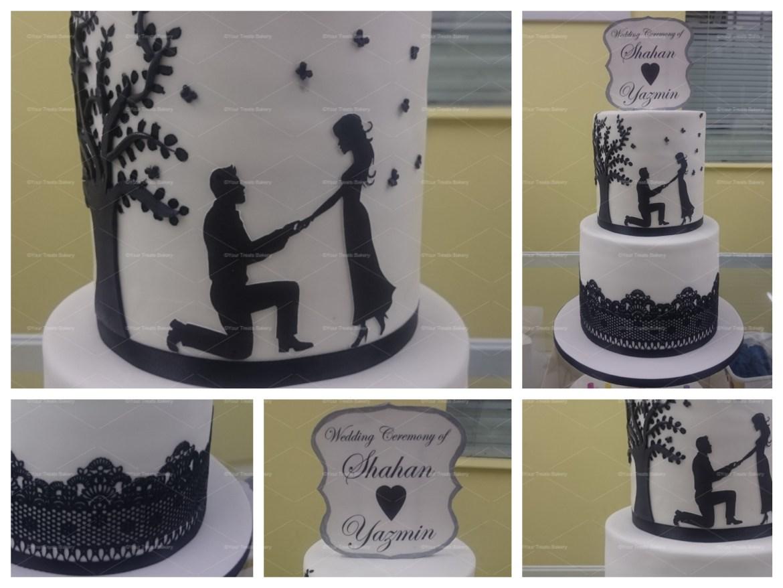 Love Under the Tree Wedding Cake