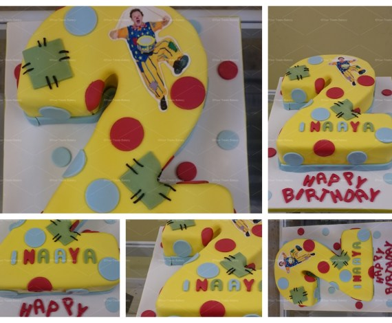 Number 2 Mr Tumble Cake
