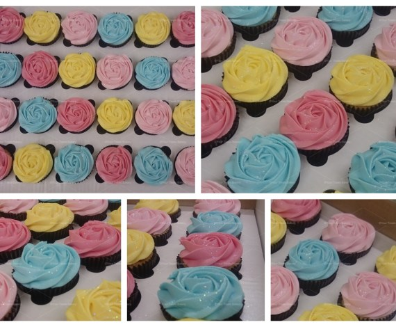 Rose Colourful Cupcakes