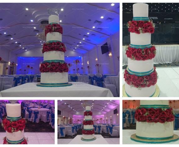 Rose Wonder Wedding Cake