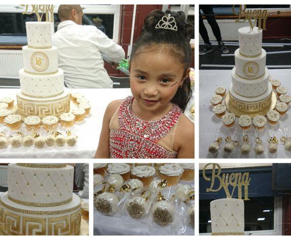 Gold Designer Wedding Style Cake