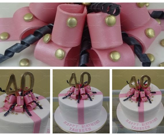 Gold & Pink Bow Explosion