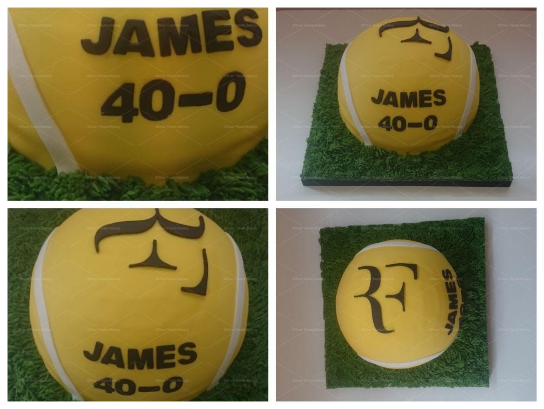 Tennis Ball Roger Federer Cake