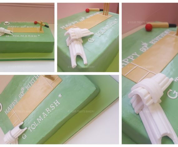 Cricket Pitch Cake
