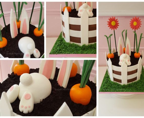 Rabbit Patch Flower Cake