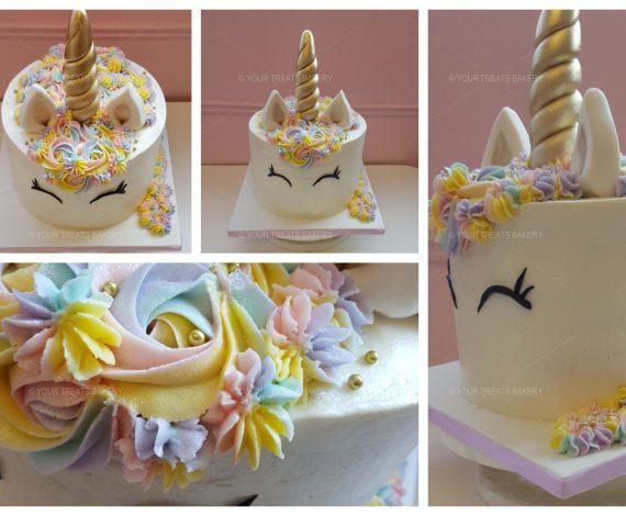 White Unicorn Cake