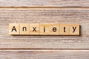 """""""Anxiety"""" letter tiles"""