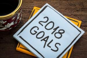 2018 goals sticky note