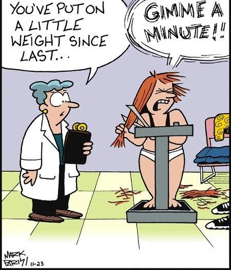 weight loss cartoon joke