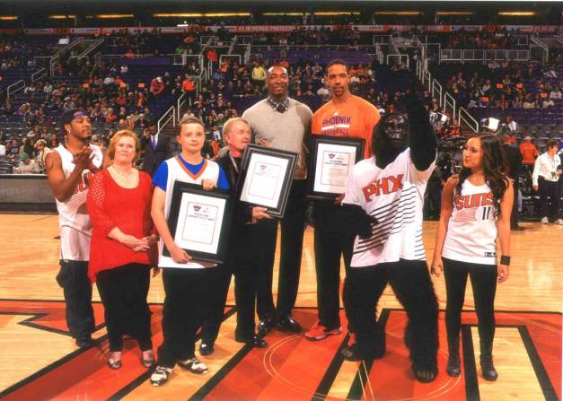 Phoenix Suns and Send a Soldier a Smile - Bill Salvatore, Realty Executives East Valley - 602-999-0952