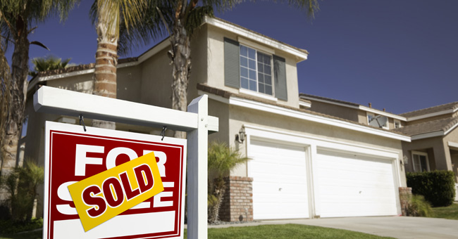 White 2-story Southwest style home with SOLD sign out front - Bill Salvatore, Realty Executives East Valley - 602-999-0952