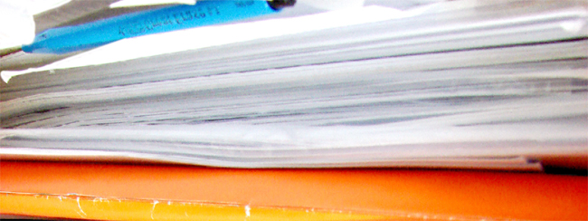HOA documents, stack of papers, closing documents