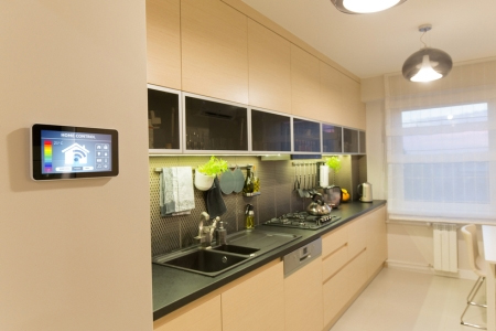 Smart Kitchen with connected appliances and camera monitoring
