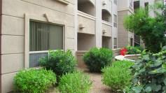 Off-white stucco front condo with bushes in font - 5303 N 7th St, Phoenix AZ - Single Level Condo for sale - Bill Salvatore, Arizona Elite Properties 602-999-0952 - Arizona Real Estate