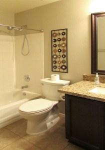second full bath, tub with shower, granite counter, tile floor - 4446 E Desert Wind Dr, Phoenix / Ahwatukee AZ - For Rent - 3 bedrooms, 2 baths - Bill Salvatore, Arizona Elite Properties -602-999-0952 - Elite Property Management