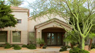 Single level community center building, access from complex entrance and pool area - 5303 N 7th St, Phoenix AZ - Exclusive community center with fitness facility - Bill Salvatore, Arizona Elite Properties 602-999-0952 - Arizona Real Estate