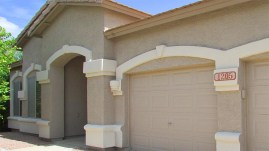 Double and Single garage doors to right of entrance - Three Car Garage - 1205 S Sandstone Street, Gilbert AZ 85396 - Western Skies Golf Community - Bill Salvatore, Arizona Elite Properties 602-999-0952 - Arizona Real Estate
