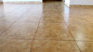 shot of tile floor, mottled neutral colors, large tiles - Red Rox Condominiums - 5401 E Van Buren St, Phoenix AZ - Unit #3002 - Remodeled condo with large, neutral tile flooring - Bill Salvatore, Arizona Elite Properties 602-999-0952 - Arizona Real Estate
