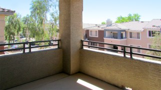 view of green space and another condo complex from balcony off greatroom - Red Rox Condominiums - 5401 E Van Buren St, Phoenix AZ - Unit #3002 - outdoor balcony on back side of complex - Bill Salvatore, Arizona Elite Properties 602-999-0952 - Arizona Real Estate