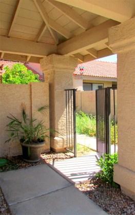 Gated, covered alcove entry - 945 N Pasadena, Mesa AZ - Park Centre Patio Homes - Bill Salvatore, Arizona Elite Properties 602-999-0952 - Arizona Real Estate
