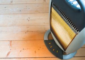 Electric Heater on wood floor