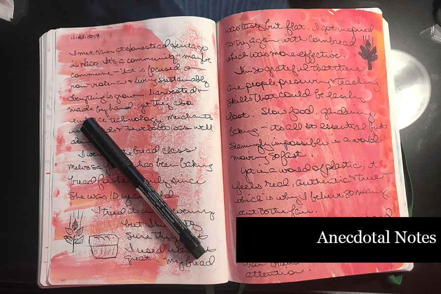 How to Journal - Anecdotal Notes