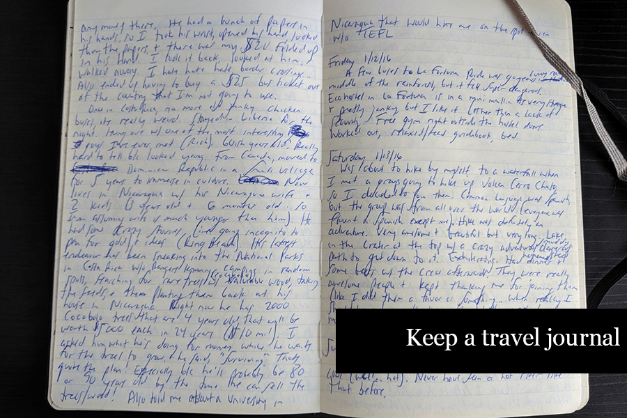 Ammco bus : Travel diary entry example