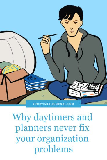 Is your daytimer or planner failing to organize your life? Would it surprise you if I told you its the planner's fault and not yours?  Why Daytimers and  Never Fix Your Organization Problems