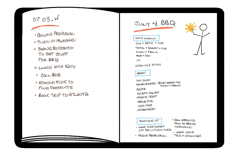 """The beauty of a Bullet Journal is that you have everything together in one place--which means your mind can trust it and stop pinging you about all the undone things. After all, there is no such thing as """"work life"""" and """"home life."""" There is just life."""