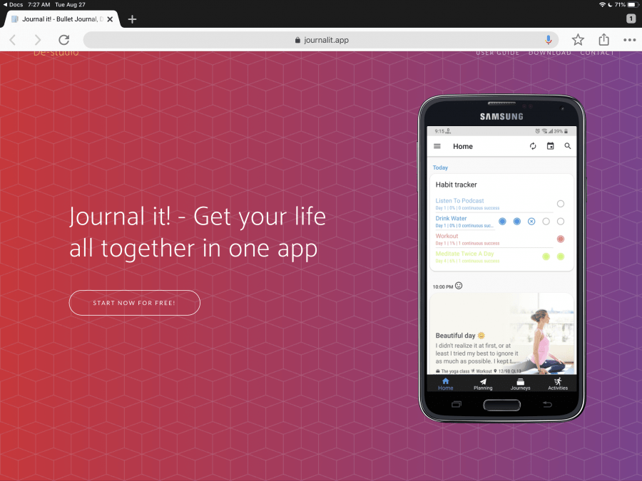 Journal It Journal App
