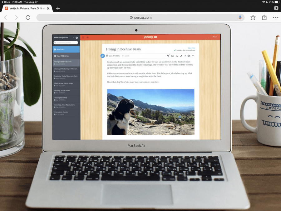 Penzu Journal App