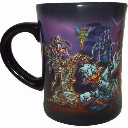 Disney Coffee Cup Mug Halloween Logo 2011